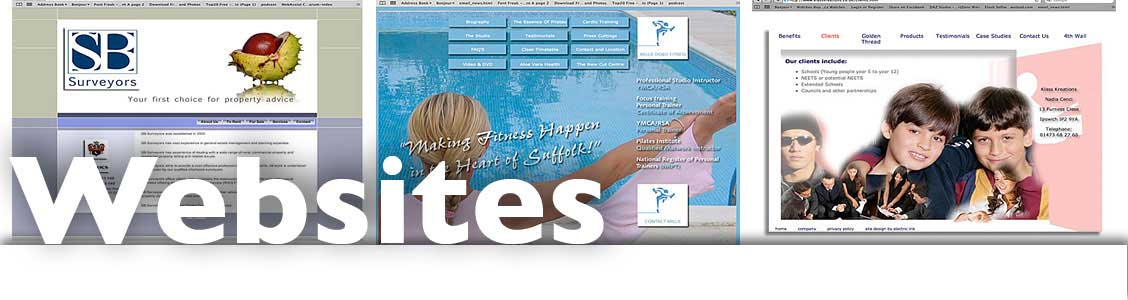 websites from web site designers electric ink ipswich suffolk